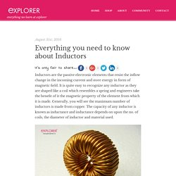 Everything you need to know about Inductors