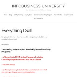 Everything I Sell – InfoBusiness University