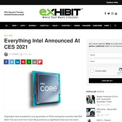Everything Intel Announced At CES 2021