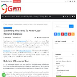 Everything You Need To Know About Kashmiri Sapphire