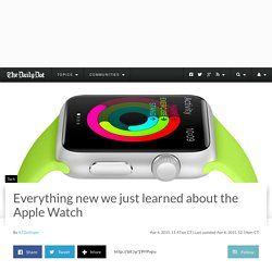 Everything new we just learned about the Apple Watch