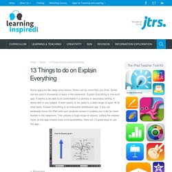 13 Things to do on Explain Everything – Learning Inspired