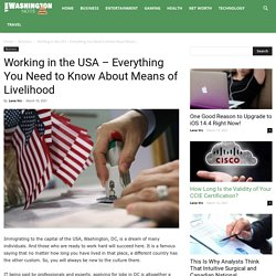Working in the USA - Everything You Need to Know About Means of Livelihood - The Washington Note