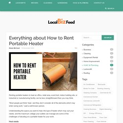 Everything about How to Rent Portable Heater