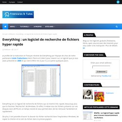 un logiciel de recherche de fichiers hyper rapide