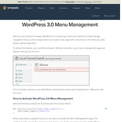 Everything you wanted to know about WordPress 3.0 Menu Management
