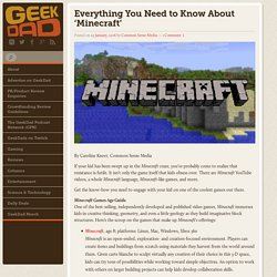 Everything You Need to Know About 'Minecraft' - GeekDad®