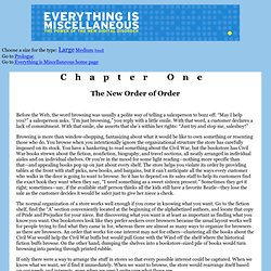 Everything Is Miscellaneous - Chapter One