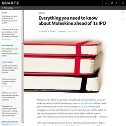 Everything you need to know about Moleskine ahead of its IPO
