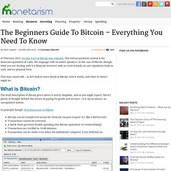 The Beginners Guide To Bitcoin – Everything You Need To Know - Monetarism - A UK Money and Personal Finance Blog