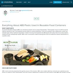 Everything About ABS Plastic Used In Reusable Food Containers: mygreentraveler
