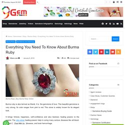 Everything You Need To Know About Burma Ruby