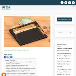 Everything You Need to Know About Credit Card Debt