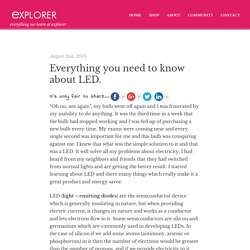 Everything you need to know about LED.