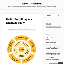 SaaS – Everything you needed to know – Evince Development