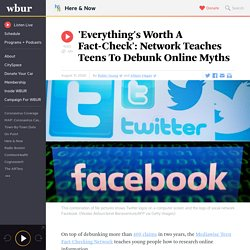 'Everything's Worth A Fact-Check': Network Teaches Teens To Debunk Online Myths