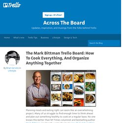 The Mark Bittman Trello Board: How To Cook Everything, And Organize Anything Together