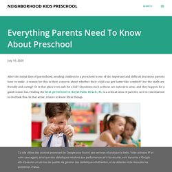 Everything Parents Need To Know About Preschool