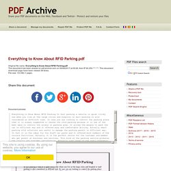 Everything to Know About RFID Parking .pdf - PDF Archive