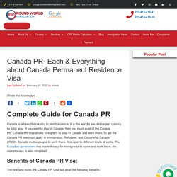 Canada PR- Each & Everything about Canada Permanent Residence Visa