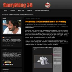 Everything 3D: Positioning the Camera in Blender the Pro Way