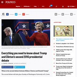 Everything you need to know about Trump and Clinton's second 2016 presidential debate