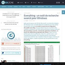 Everything : un outil de recherche avancé pour Windows