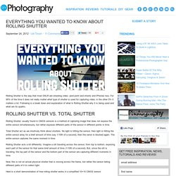 Everything You Wanted To Know About Rolling Shutter