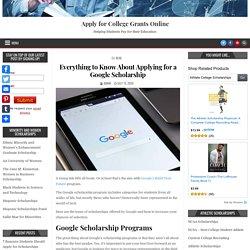 Google Scholarship Application Process