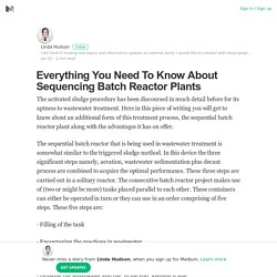 Everything You Need To Know About Sequencing Batch Reactor Plants