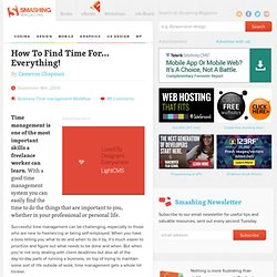 How To Find Time For… Everything!