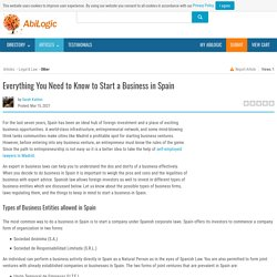 Everything You Need to Know to Start a Business in Spain