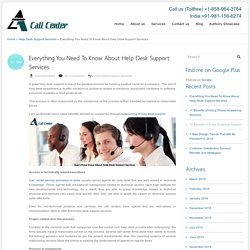 Everything You Need To Know About Help Desk Support Services
