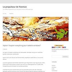 iXplain: l'explain everything pour tablette windows?