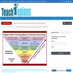 Everything Teachers Need To Know About Bloom's Taxonomy