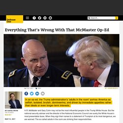 Everything That's Wrong With That McMaster Op-Ed