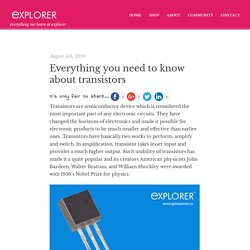 Everything you need to know about transistors