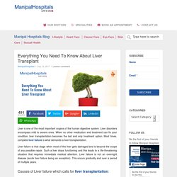 Everything You Need To Know About Liver Transplant - Manipal Hospital Blog