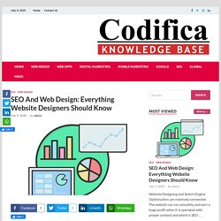 SEO And Web Design: Everything Website Designers Should Know