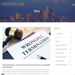 Everything you need to know if you have been wrongfully terminated - Los Angeles Personal Injury Attorney
