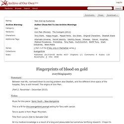 Fingerprints of Blood on gold (Sequal)
