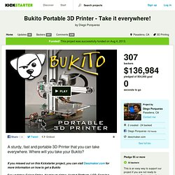 Bukito Portable 3D Printer - Take it everywhere! by Diego Porqueras