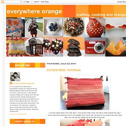 everywhere orange: zipper bag: tutorial
