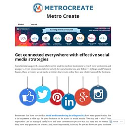Get connected everywhere with effective social media strategies – Metro Create