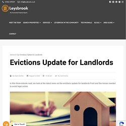 Evictions Update for Landlords