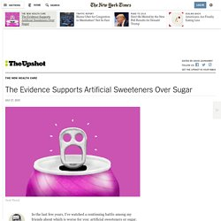 The Evidence Supports Artificial Sweeteners Over Sugar