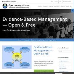 Evidence-Based Management — Open & Free - OLI