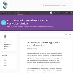 An evidence-informed approach to curriculum design