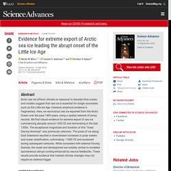 Evidence for extreme export of Arctic sea ice leading the abrupt onset of the Little Ice Age