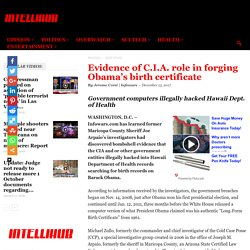 Evidence of C.I.A. role in forging Obama's birth certificate